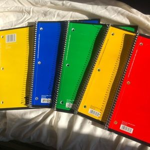 college rules spiral notebooks